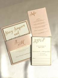 blush and gold wedding invitations best 25 gold wedding invitation suites ideas on