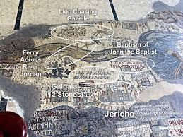 Jordan River Map Madaba Mosaic Map Jordan Travel To Eat
