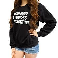 anglewolf women loose letters print long sleeve sweatshirt
