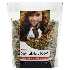 rabbit food meijer pet rabbit food 4 lb meijer