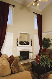 Chocolate Brown And Red Curtains 53 Living Rooms With Curtains And Drapes Eclectic Variety