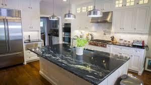 granite countertop yellow kitchens with white cabinets electric
