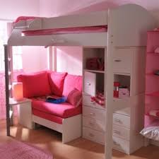 Ideas For Bunk Bed With Futon And Storage Solution Pink Overload - Pink bunk bed