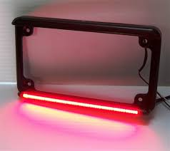 motorcycle license plate frame with led brake light real flex motorcycle led license plate frame with running light