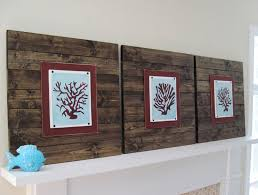 wood plank artwork wood plank frame with coral sillhouettes project cottage