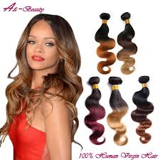 ombre weave two tone human hair wave hair weave bundles ombre