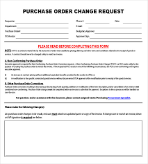 Free Change Order Template Excel Purchase Order Request Form Template