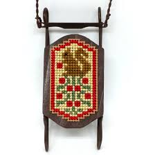 project idea foxwood crossings squirrel sled ornament stitchybox