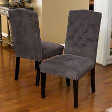remarkable upholstered parsons dining chairs with grey fabric