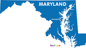 Labeled Us Map Maryland Map With Capital Maps Of Usa