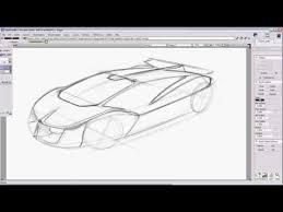 auto design software car design sketch tutorial for a supercar using autodesk alias