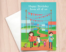 birthday card from all of us boss birthday card happy