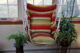 bedroom cozy red striped colorful diy hanging chair for bedroom