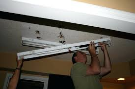 Kitchen Fluorescent Light Fittings How To Replace Ceiling Fluorescent Light Fixtures Www Lightneasy Net
