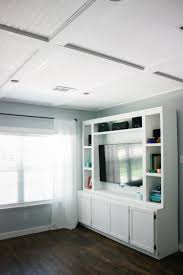 faux coffered ceiling using beadboard and moulding the m and m