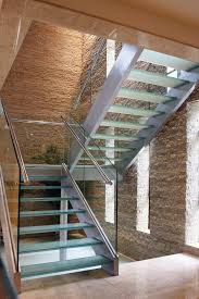 33 flamboyant modern staircase designs with glass steps treads and