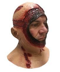 amazon com bloody hood mask overhead latex jason halloween horror