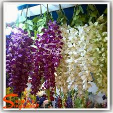 Fake Flowers For Wedding - factory direct artificial silicone flowers wisteria cheap