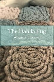 Crochet Bathroom Rug by The Dahlia Rug Pattern Flower Rug Crochet Nursery Bath