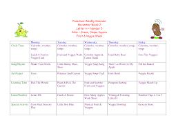 10 best images of preschool weekly calendar printable free