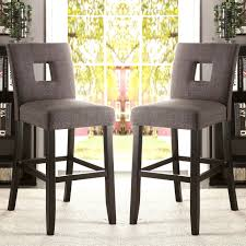Counter Height Upholstered Chairs Maldives Open Back Grey Upholstered Counter Height Parsons Dining