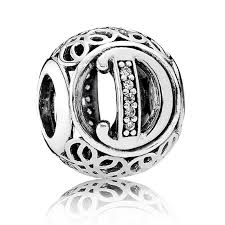 pandora vintage letter d charm 791848cz from gift and wrap uk
