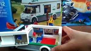 camper van lego lego city camper van review set 60057 youtube