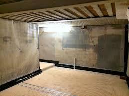 type c cavity drain membrane installation to a domestic basement