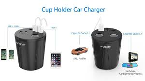 Multi Socket Car Charger With Usb Port Qicent Multi Port Car Usb Charger Cup Holder With 3 Usb Port For