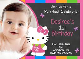 my son first birthday invitation how to create hello kitty birthday invitations templates
