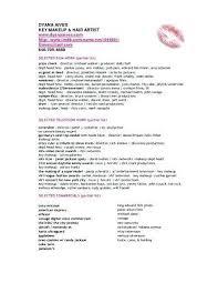 makeup artist resume template aspiring makeup artist resume resume sle