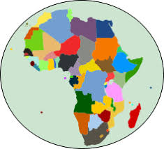 africa map color africa mapchart