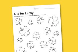 worksheet wednesday l is for lucky paging supermom