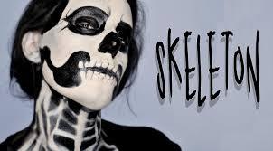 halloween makeup tutorial skeleton skeleton halloween makeup tutorial silvia quiros youtube