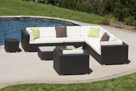 swing 46 modern outdoor all weather wicker 8 piece sectional