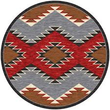 8 Foot Round Area Rugs by Southwest Rugs 8 Ft Round Heritage Southwestern Rug Lone Star