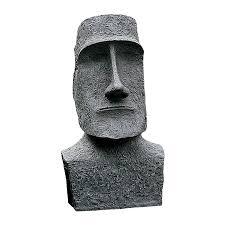 shop design toscano easter island moai monolith 24 5 in tiki garden
