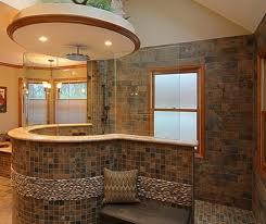 Idea Bathroom Bathroom Luxury Bathroom With Brown Tiles Wall And Small Brown