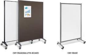 mobile room dividers in stock uline