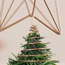 copper star christmas tree topper