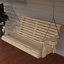 Most Comfortable Porch Swing Amazon Com 4 U0027 Natural Cedar Porch Swing Amish Crafted
