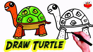 how to draw a tuttle step by step for kids easy sweet cute sea