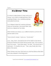 Daily Living Skills Worksheets Math Third Grade Reading Comprehension Worksheets Free Printable