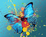 Butterfly abstract wallpaper