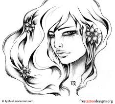 free new style virgo symbol tattoo design tattoo ideas