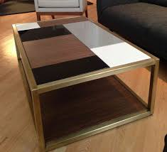 custom metal modern coffee table base by andrew stansell design