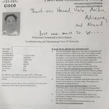 we are proud of our student who has passed cisco ccnp