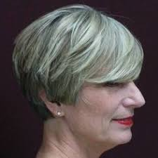 short hairstyles for older women with thick hair how does she