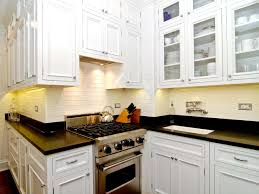 Maple Wood Kitchen Cabinets Fascinating Small Kitchen Design With White Finish Maple Wood