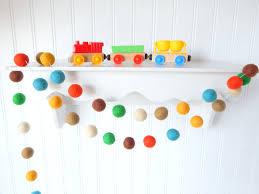 Baby Boy Wall Decor Woodland Garland Boy Nursery Decor Baby Boy Room Felt